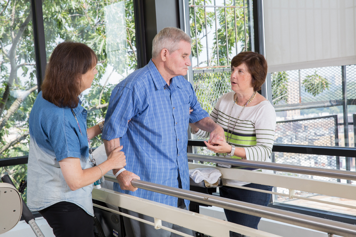 physical therapist at fort tryon center for rehabilitation and nursing working with resident