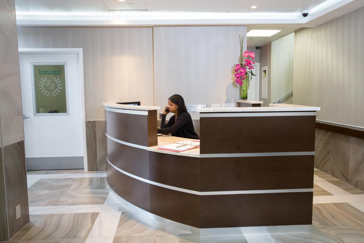 information desk at Fort Tryon Center for Rehabilitation and nursing